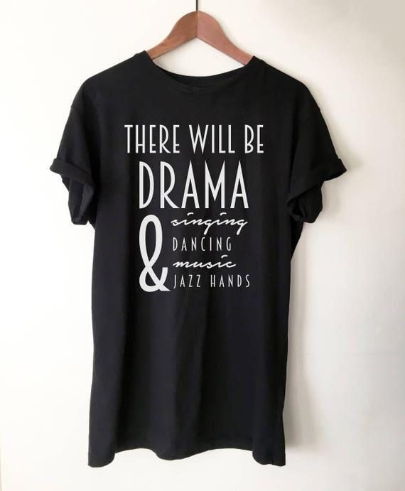 M Theatre Gift Eat Sleep Karaoke Repeat T-Shirt Broadway Shirt Theatre Shirt