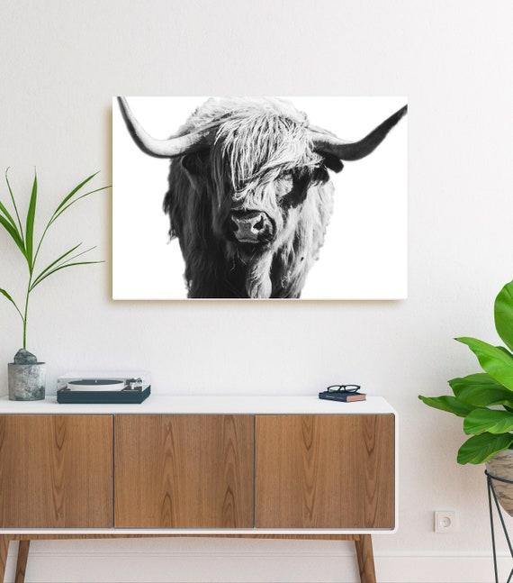 Imagen Arte Cartel animales escocés ganado Gran impresión enmarcado-highland Cow