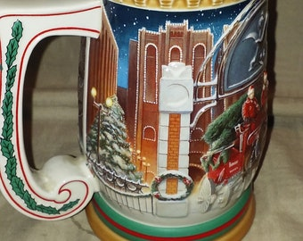 Vintage Home For The Holidays 1997 Budweiser Holiday Stein
