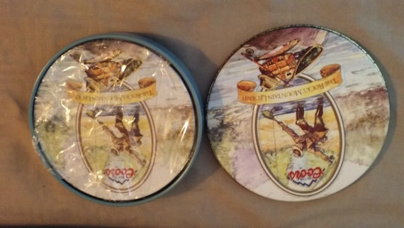 Coors Rocky Mountain Legend Metal Coaster Set