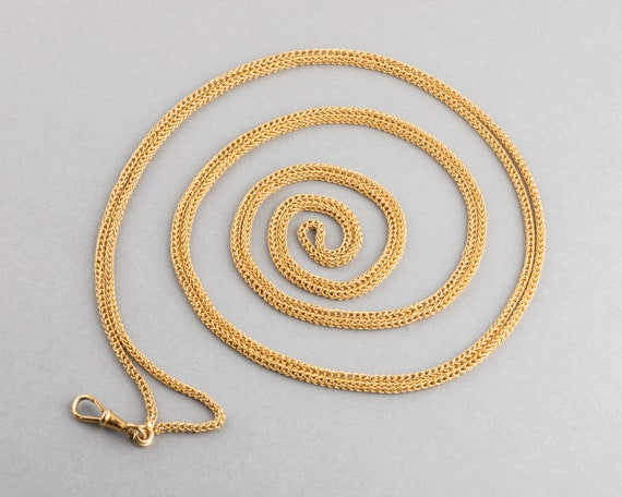 Antique French Long Gold Chain