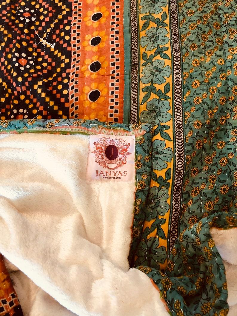 Fur Faux Vintage Sherpa Kantha Carol