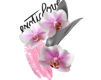 Orchid No2 photography Handlettering mixed media download