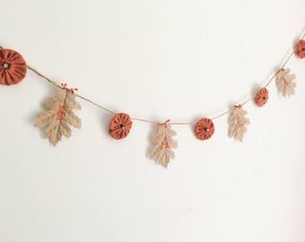 Fall Burlap Pumpkin Banner