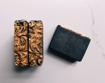 The Jazz Lounge Handmade Bar Soap, Activated Charcoal, Natural Vegan Soap