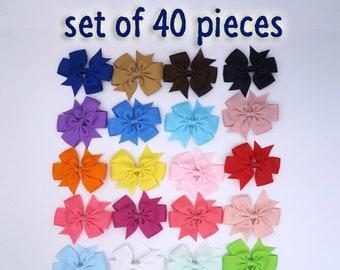 3.2 inch hair bows, hair clips, hair bows. toddler hair bows, bows for girls, back to school bows,girls bows