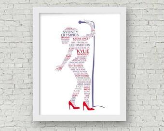 14110a4a7a Kylie Minogue Art -- Singing - Music Gift - Music Art - Kylie Minogue - Wall  Art - Kylie Print - Singer Design - Framed Art - Birthday Gift
