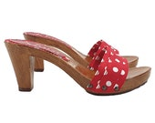comfortable clogs red pois - K5101 ROSSO-POIS