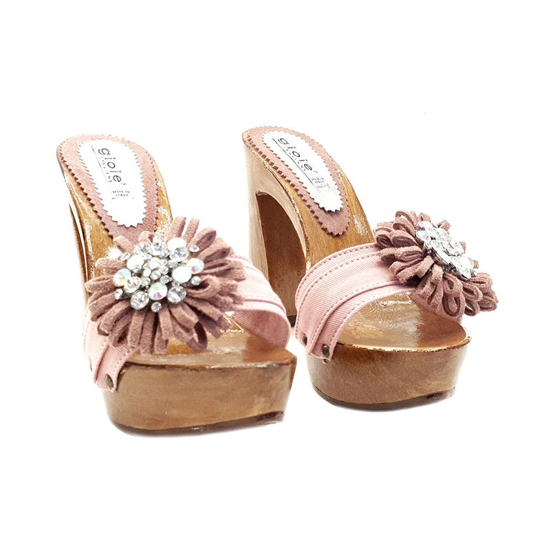 G12078 ROSA Women/'s pink Clogs with comfortable Heel