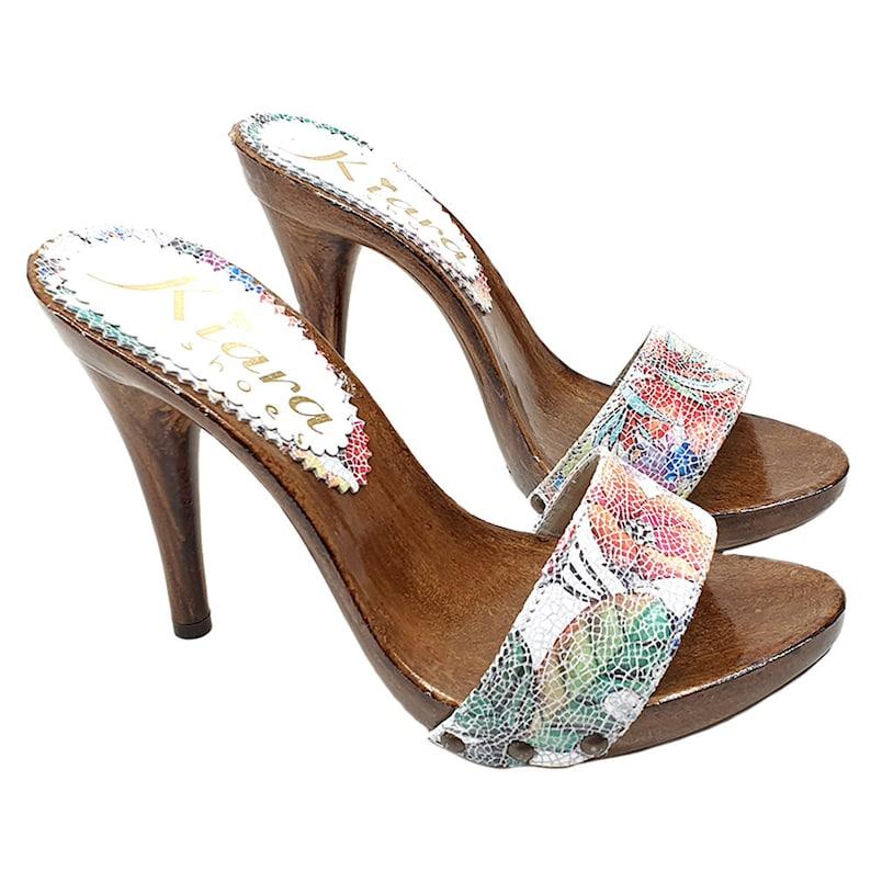 60085a00f6432 handmade leather clogs - KM7203 PICASSO BIANCO