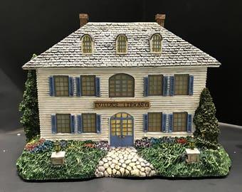 "Kinkade Hawthorne Christmas Village ""VILLAGE LIBRARY """