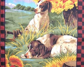 Patchwork panel fabric coupon sticker 2 HOUNDS