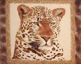 Coupon patchwork Panel Vignette PORTRAIT No. 2 LEOPARD fabric