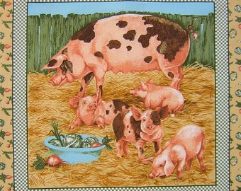 Fabric Patchwork Panel sticker pig and little n 2 coupon