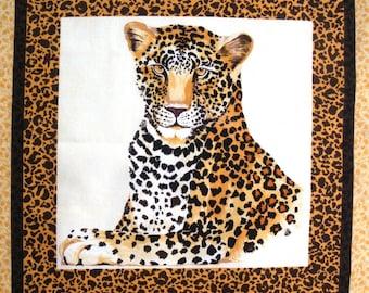 Coupon fabric Patchwork Panel Vignette PORTRAIT Panther No. 2