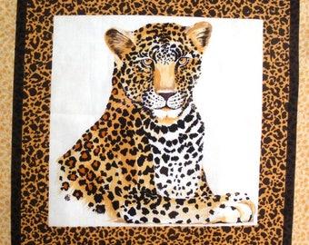 Coupon fabric Patchwork Panel Vignette PORTRAIT Panther No. 1