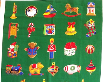 Coupon Patchwork fabric Panel Christmas advent calendar, kids toys subjects