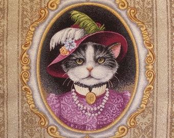 Coupon fabric panel tapestry countess, jacquard fabric for cushion, bag, furnishings, decoration