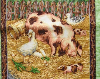 Fabric Patchwork Panel sticker pig and little n 1 coupon
