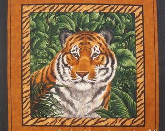 Coupon fabric Patchwork Panel Vignette PORTRAIT Tiger