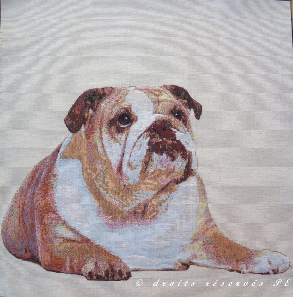 Christmas Fabric Quilting SewingCraft Panel Bulldog