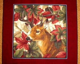 Coupon fabric Patchwork Panel tile PORTRAIT of deer No. 1