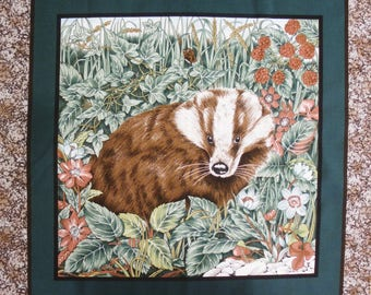Patchwork Panel sticker Badger fabric coupon