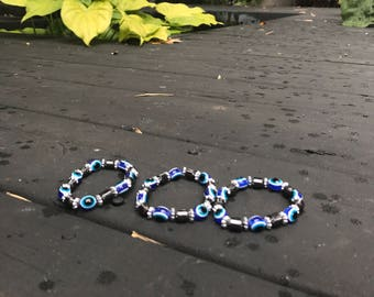 Evil eye beads bracelet