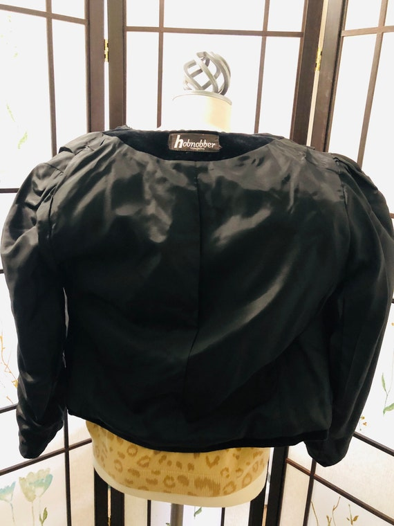 Vintage Gorgeous Velour Black Blazer - Made in To… - image 7