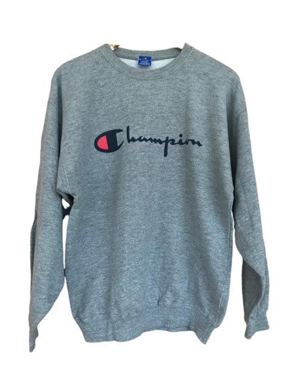 Champion brand logo sweatshirt grey size M