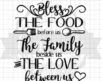 Instant Pot Decal - Bless the Food Before Us the Family Beside Us and the Love Between Us - Black Vinyl