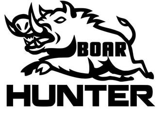 Boar Hunter Vinyl Decal