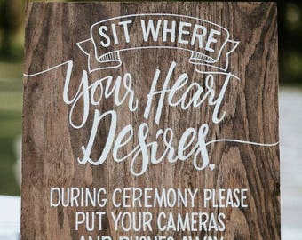 Guest Seating Wedding Decor Sign