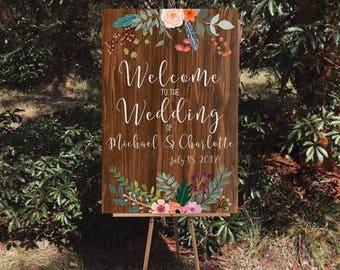Welcome Wedding Decor Sign