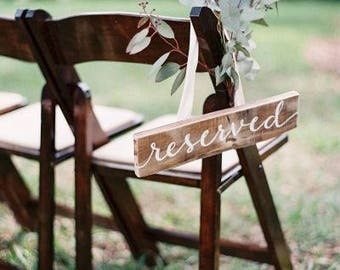 Reserved Seating Decor Sign