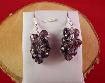bunches of grapes earrings