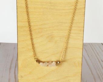 Rose Quartz Necklace | Rose Quartz | Crystal Necklace