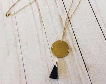 Full Moon Tassel Necklace | Tassel Necklace | Statement Necklace