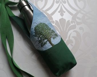 Sycamore Gap adjustable Cross Body Water Bottle Carrier Bottle Holder