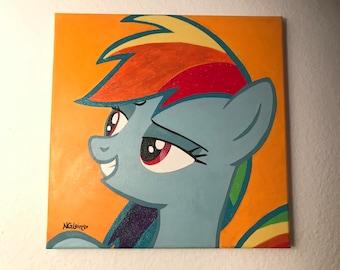 "Original ""Rainbow Dash"" Painting on Canvas"