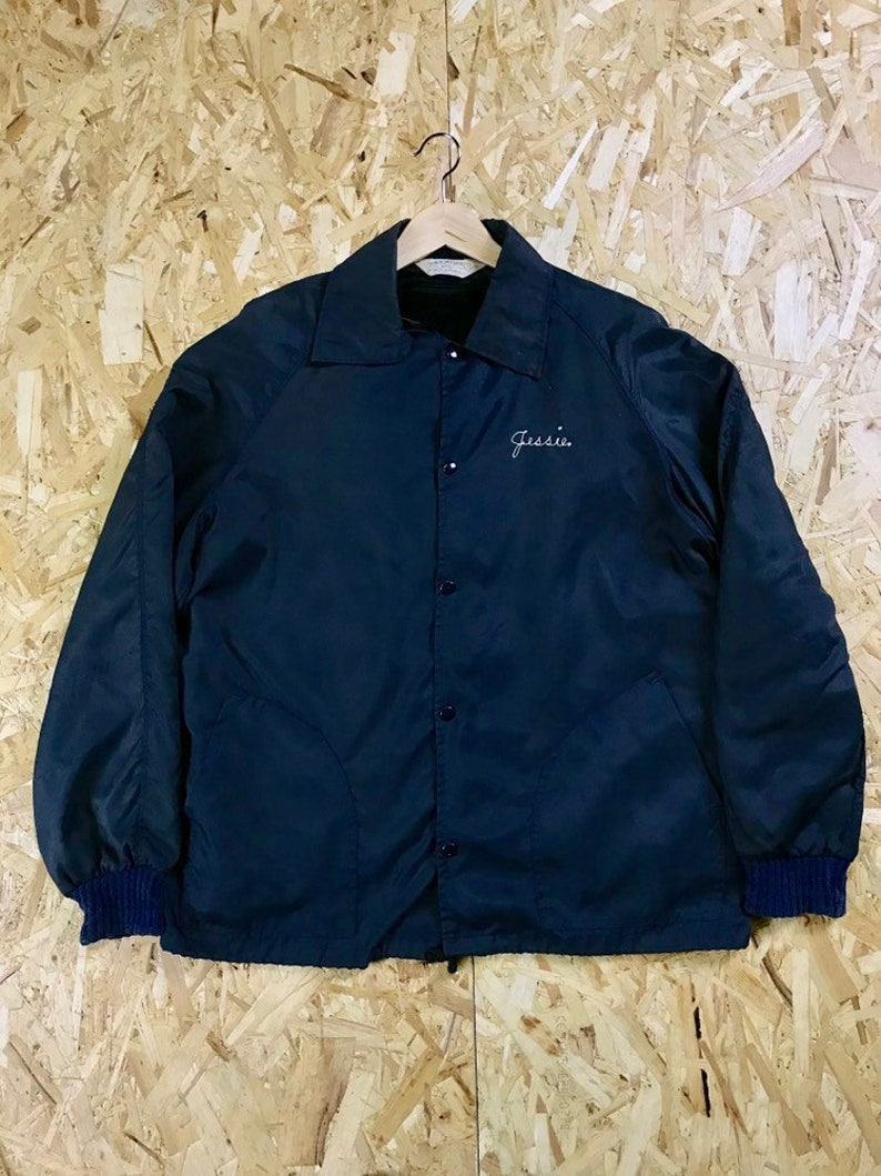 44541b271 Vintage 1950's deefoot work jacket. Popper buttons. Detachable lining. Fire  service logo. Jessie on front. Coach jacket.