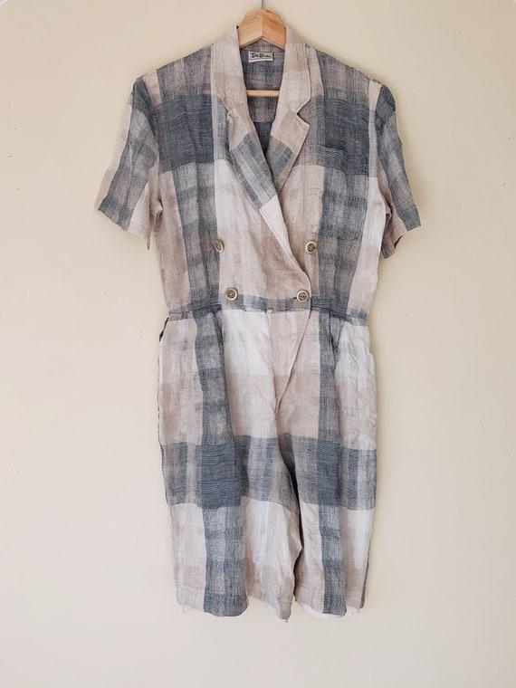 1980s Betty Barclay Linen Jumpsuit.