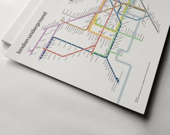 Subway Map Wall Art Wall Art Stickers Wall Decal Huge Underground Tube Map.London Underground Etsy