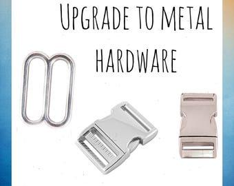 Upgrade your collar to metal hardware