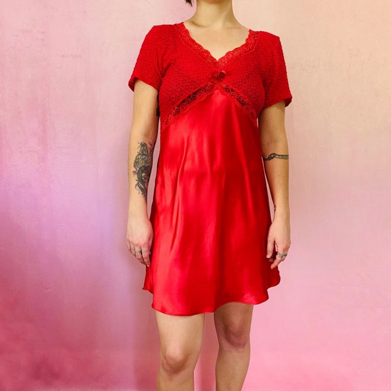 Vintage 90s red intimate dress
