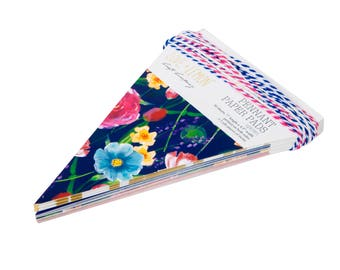 Love+Lemon Uptown Girl Paper Pennant Banner Pad, 30 sheets