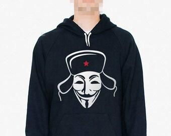 Russian Hacker Black Hoodie