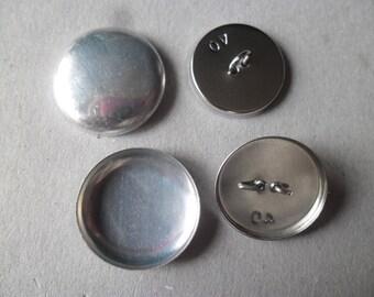 Métal; auto couverture boutons 19 mm
