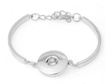 x 1 child bracelet for snap in silver 13.5 cm