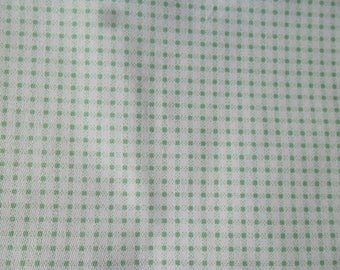 x 1 cut of fabric light green and white checked cotton patchwork 45 x 45 cm